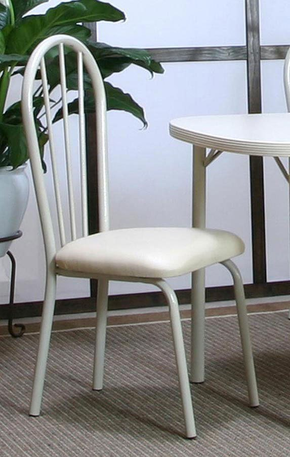 Tawny Ivory Vinyl Side Chair (Set of 4)