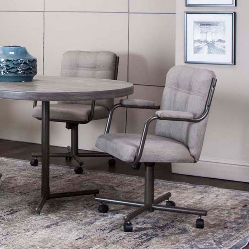 Timber Dove Tweed Swivel Chair (Set of 2)