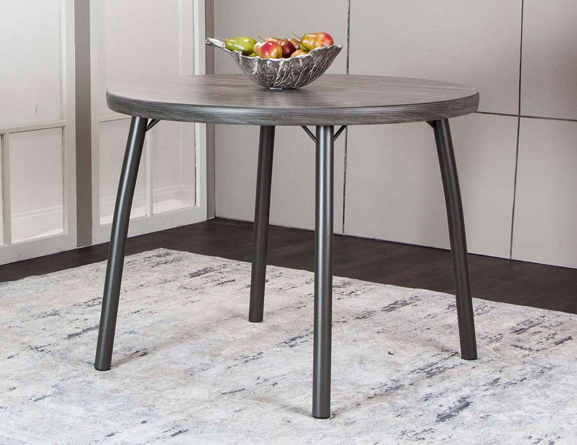 Timber Round Vintage Laminate Counter Table