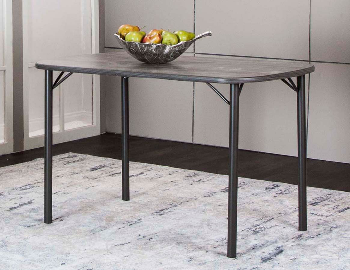 Timber 48 Inch Bow-End Vintage Laminate Top Table