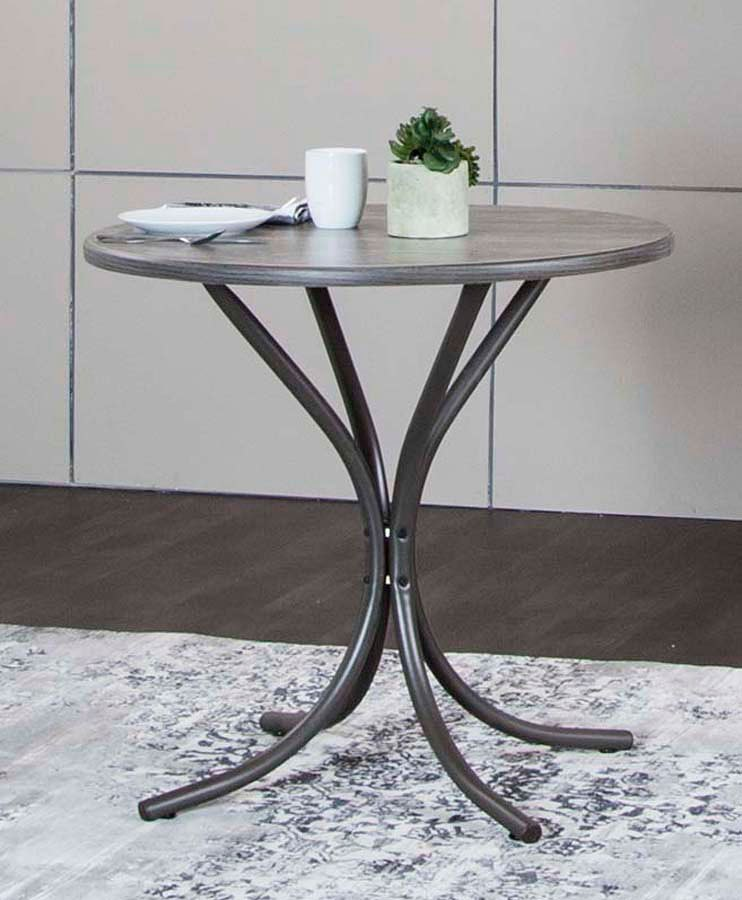Timber Round Vintage Laminate Top Table