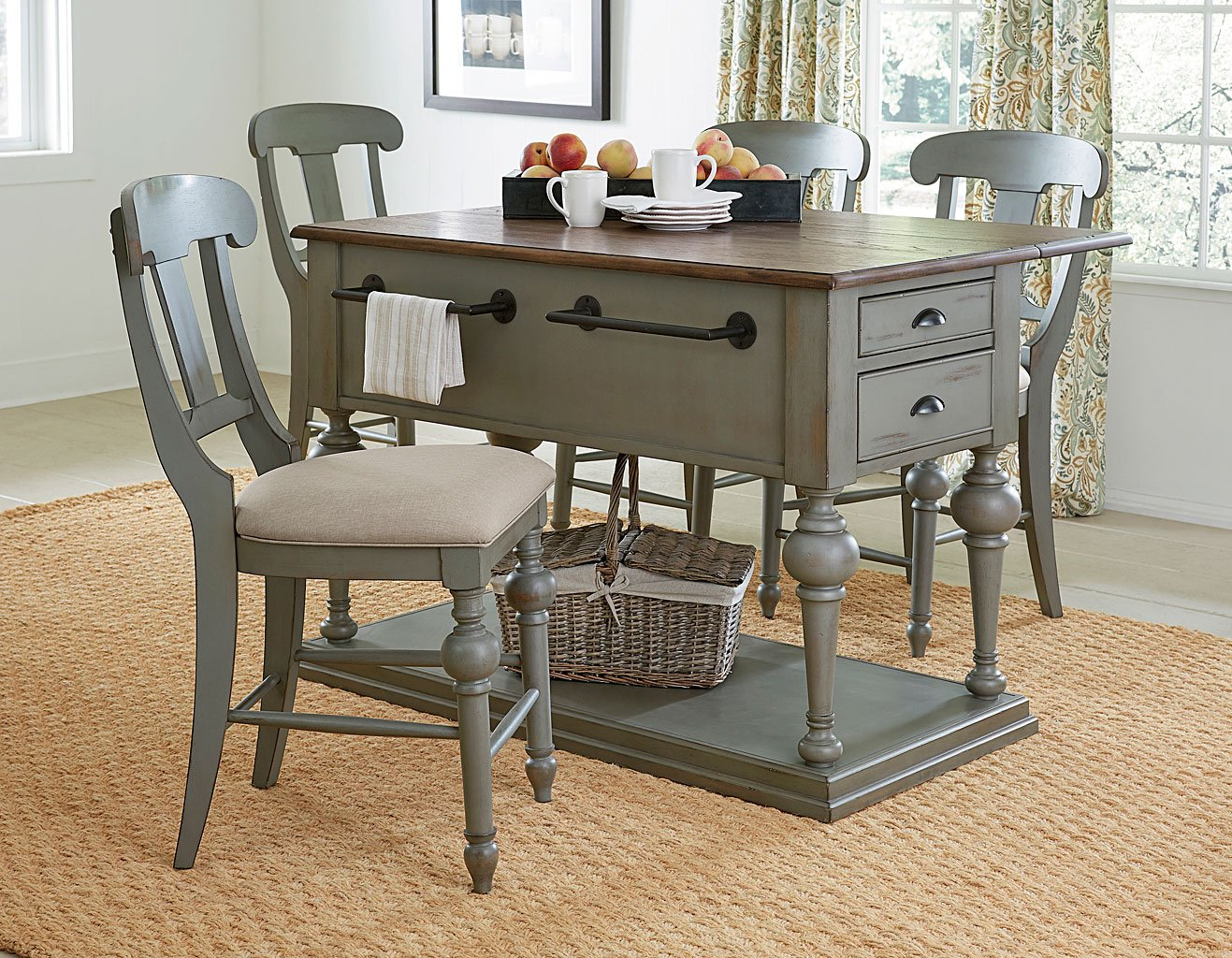 Colonnades Kitchen Island Set