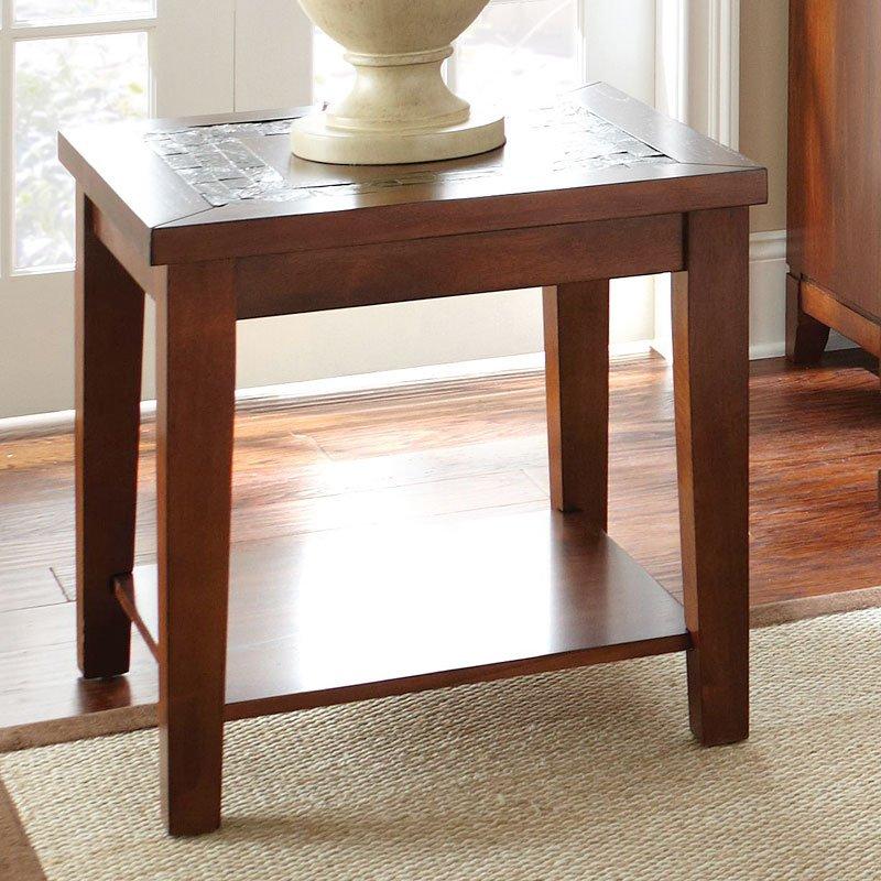 Davenport Slate End Table Steve Silver Furniture