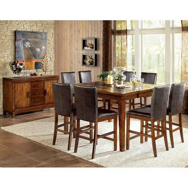 Davenport Counter Height Dining Room Set W Two Chair Choices Steve Silver Furniture 1 Reviews Cart