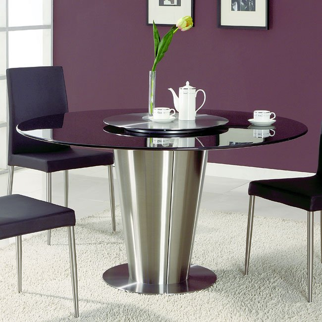 Dawn Black Marble Top Dining Table Chintaly Imports