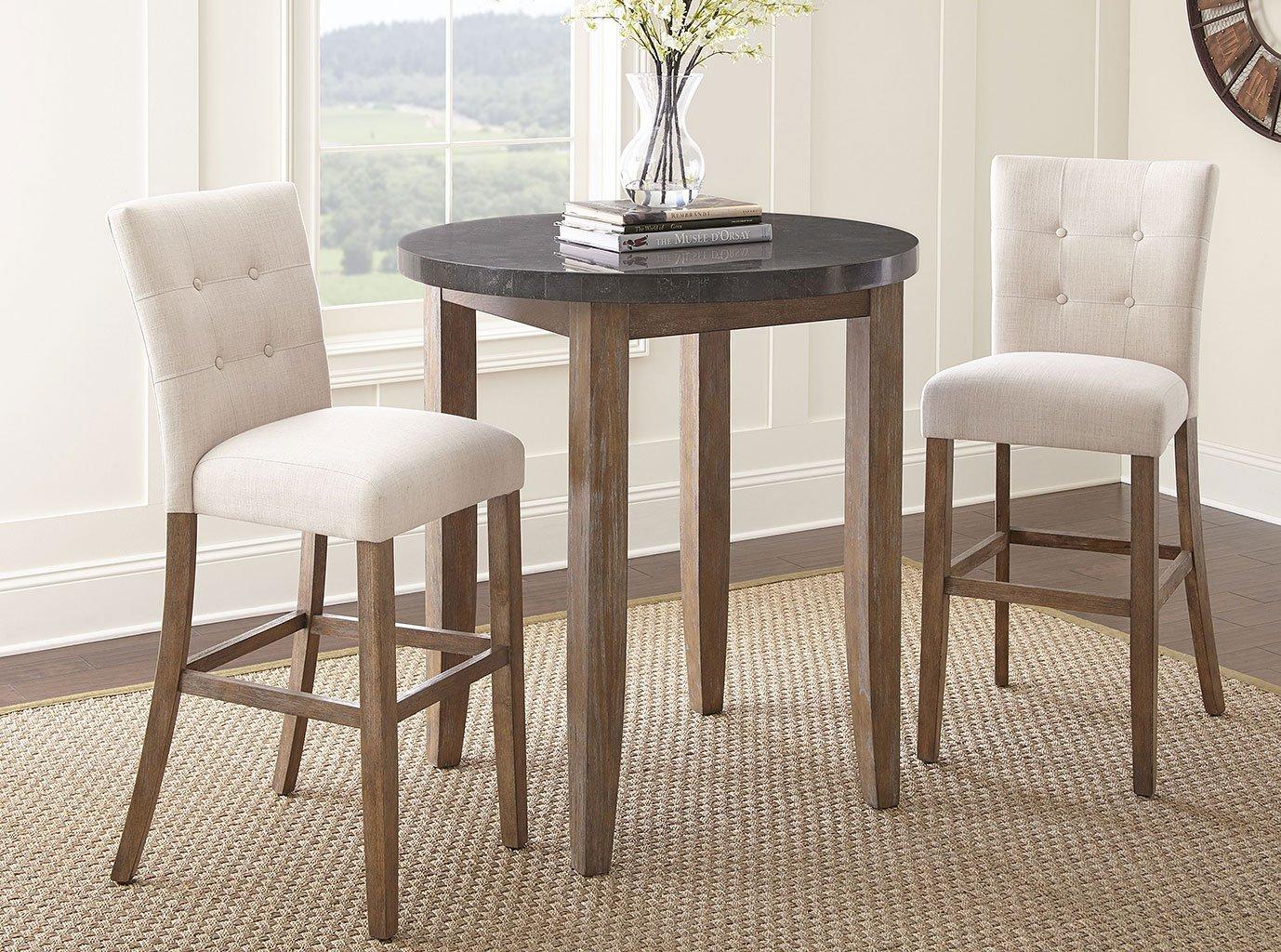 Debby Bar Table Set W/ Beige Chairs Steve Silver Furniture | Furniture Cart