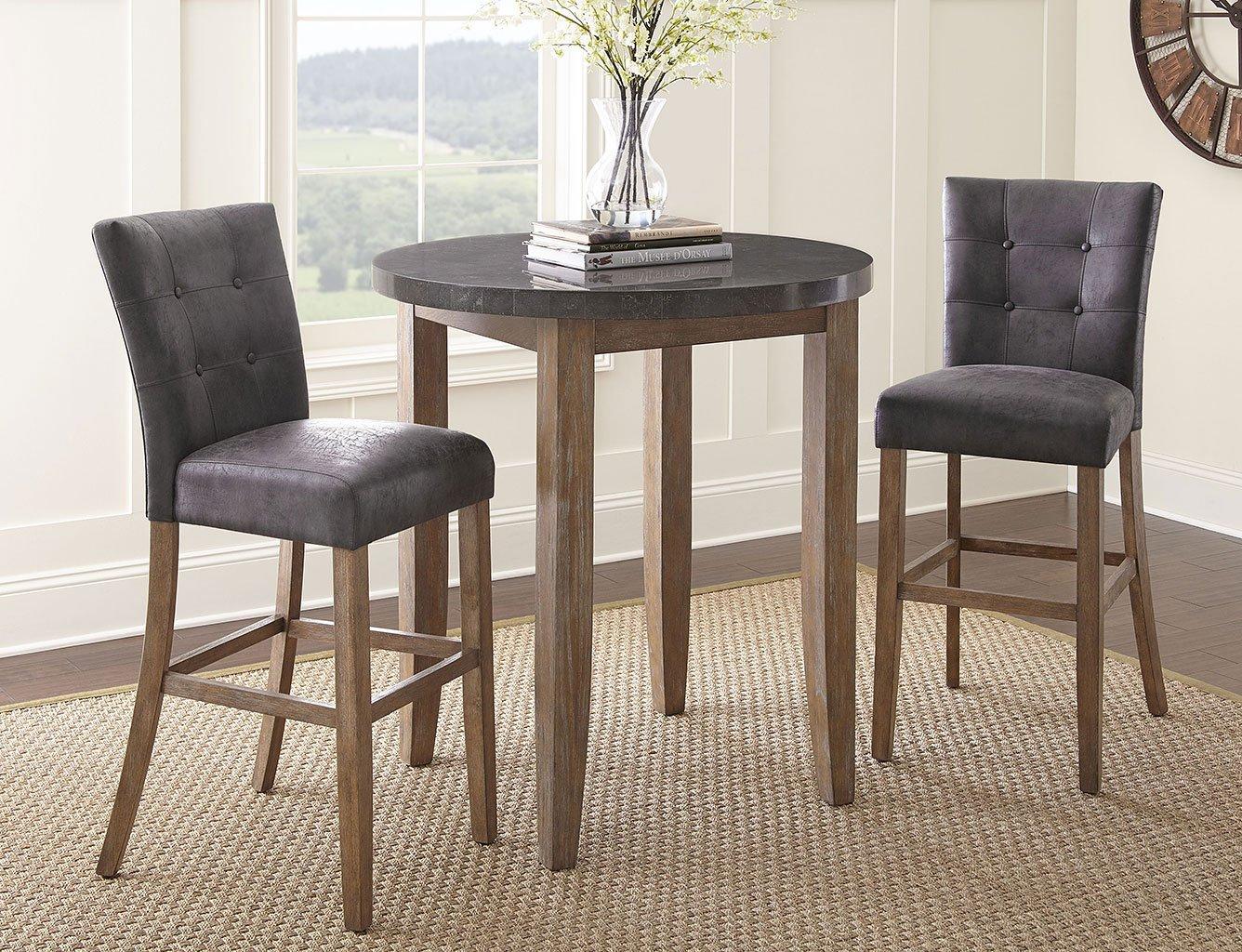 Debby Bar Table Set W/ Grey Chairs