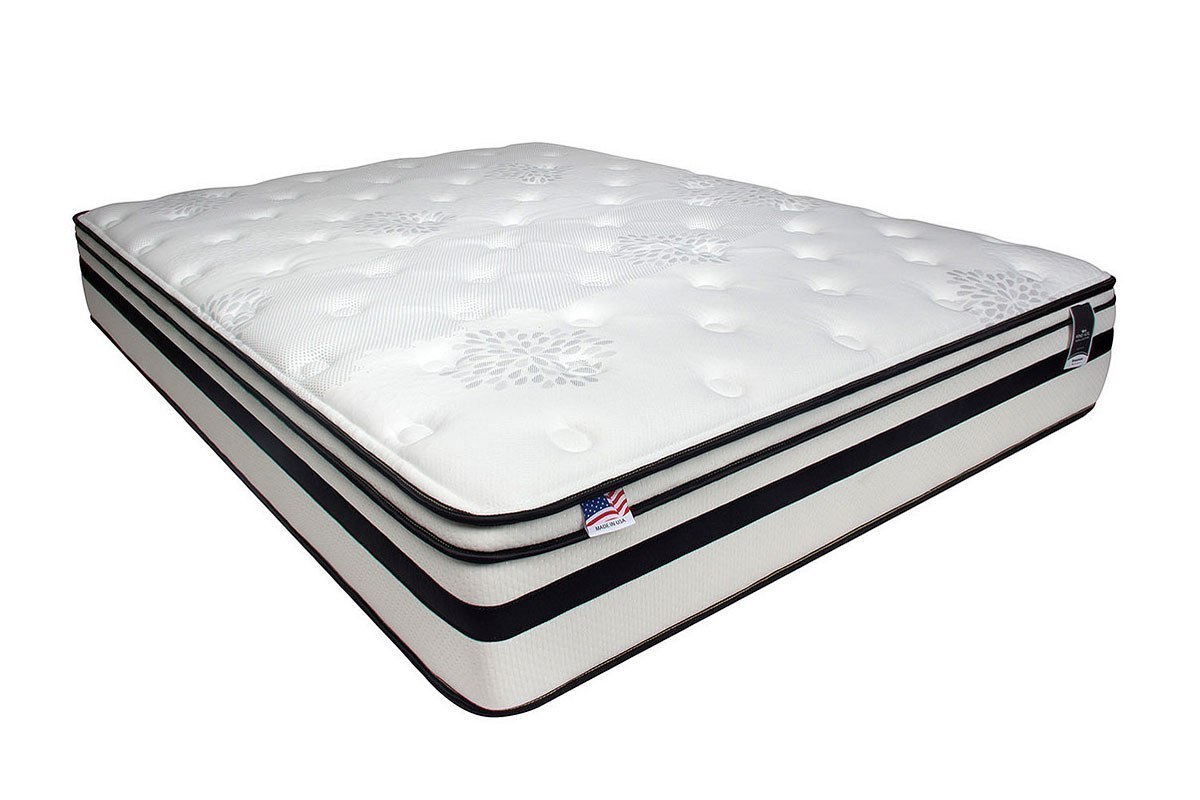 Fairen 12 Inch Euro Pillow Top Mattress Furniture Of America Cart