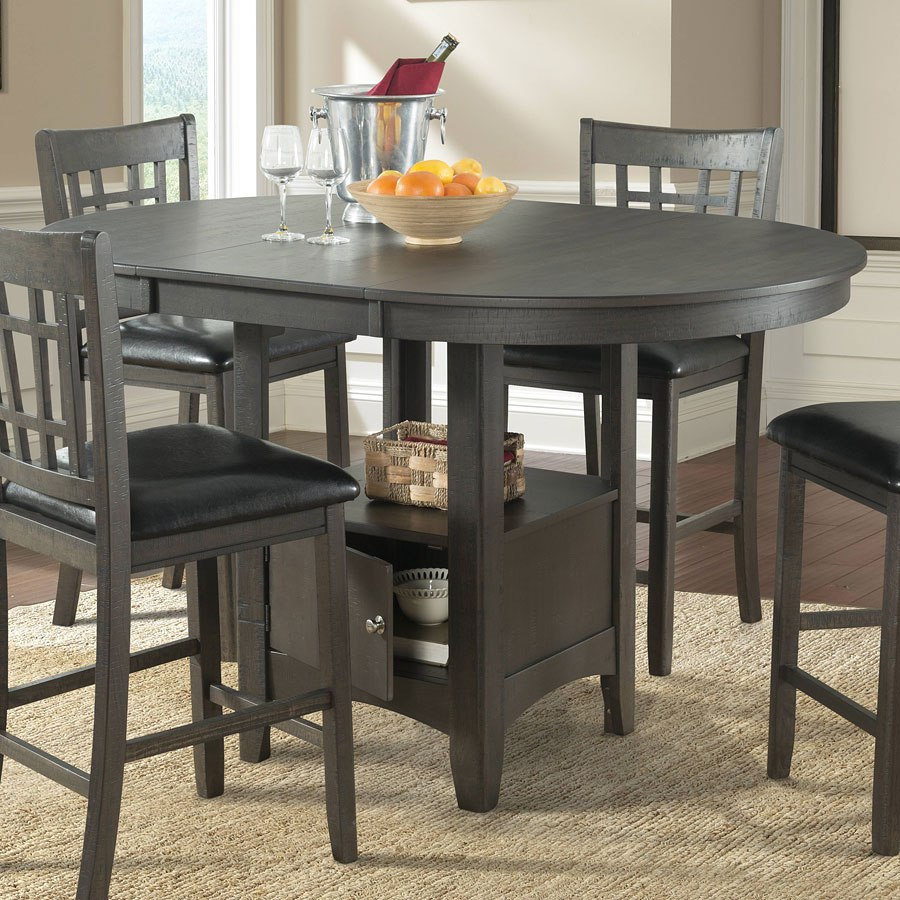 Max Counter Height Dining Room Set Gray
