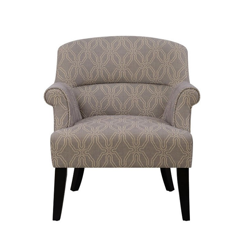 Small Space Roll Arm Grey Accent Chair Accentrics Home
