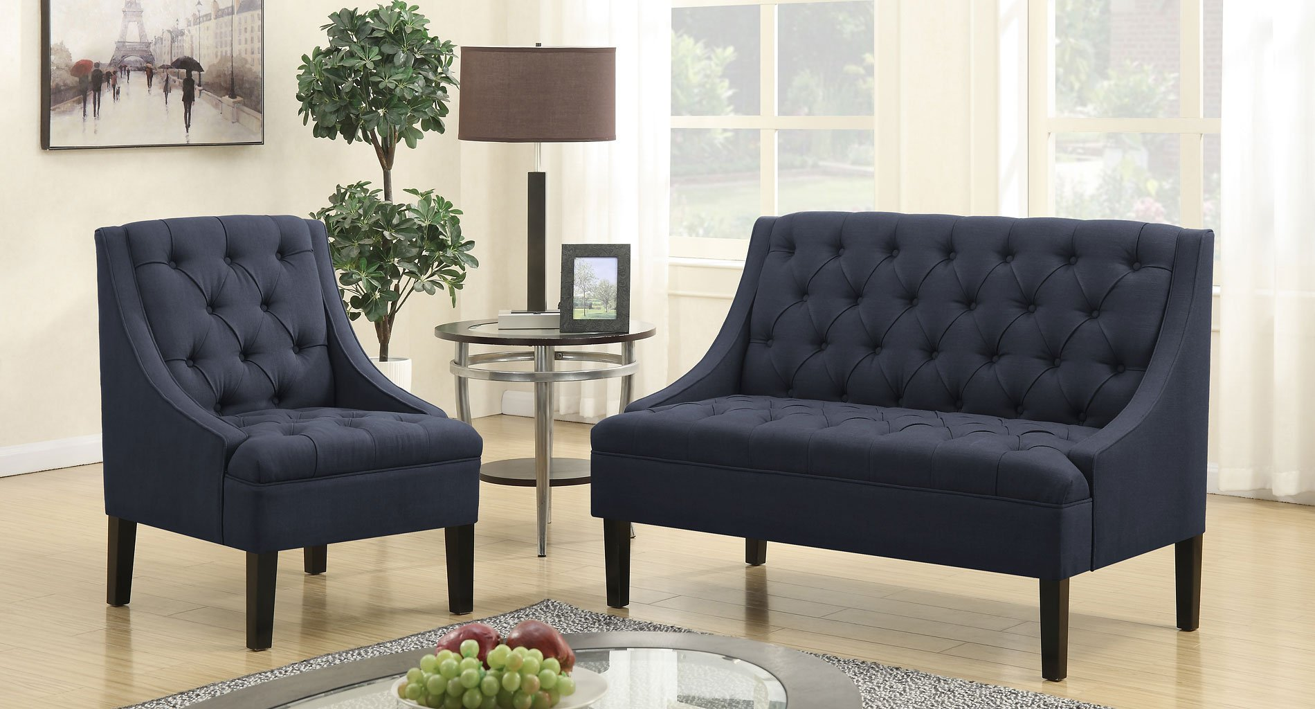Vienna Twilight Upholstered Living Room Set