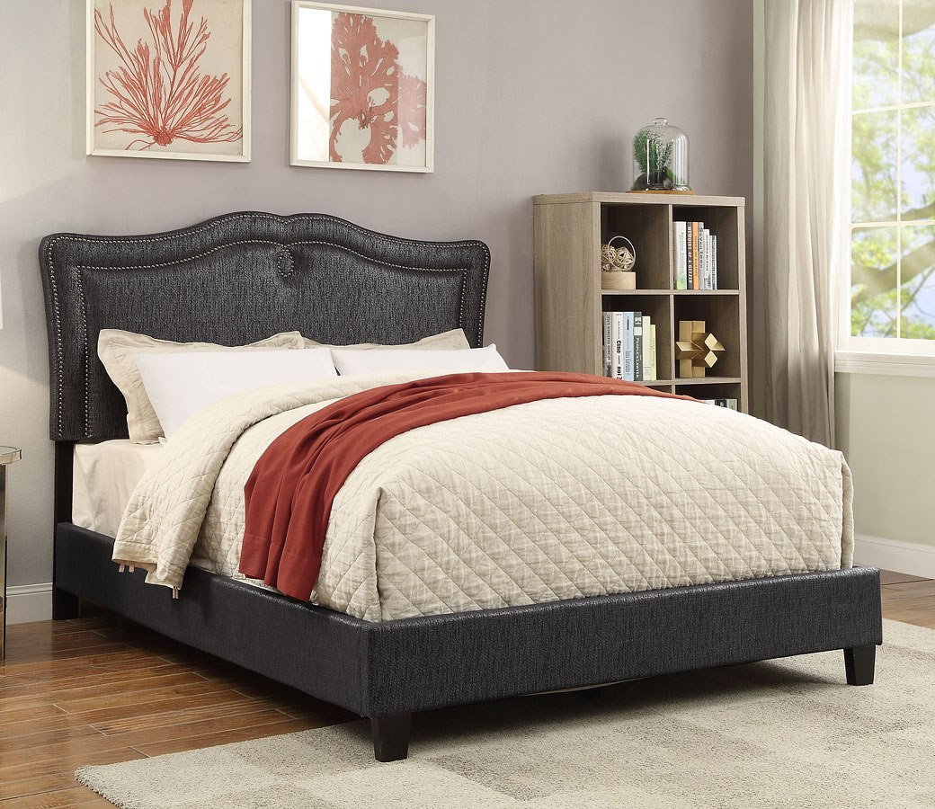 8f0f44727404 Onyx Sweetheart Shaped Upholstered Queen Bed Pulaski Furniture ...