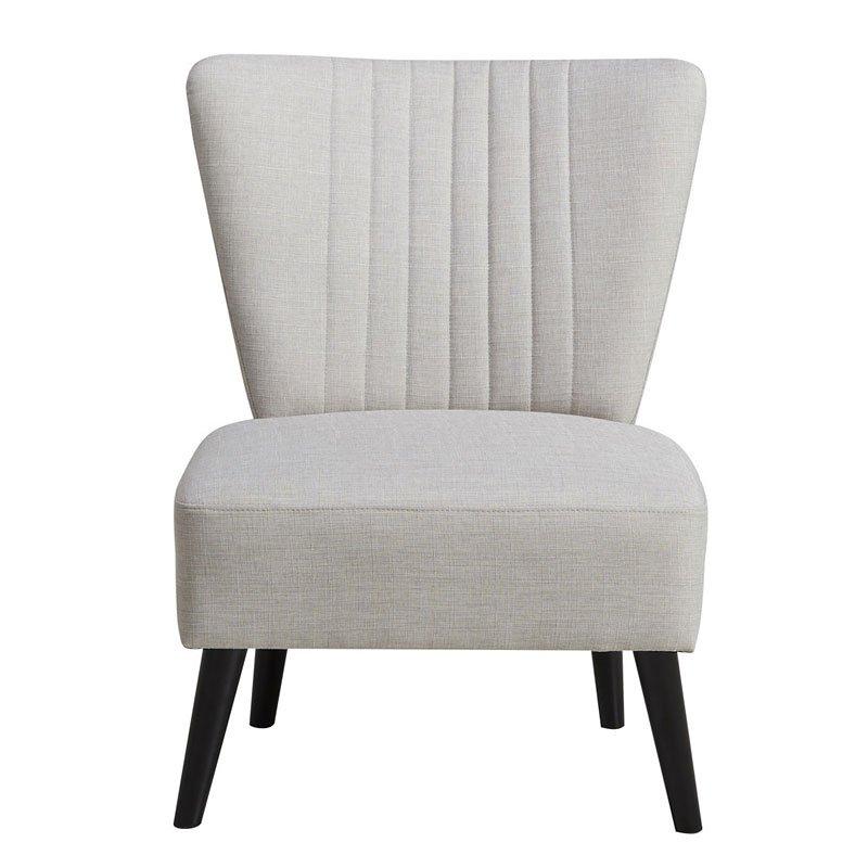 Cream Channeled Armless Accent Chair Pulaski Furniture