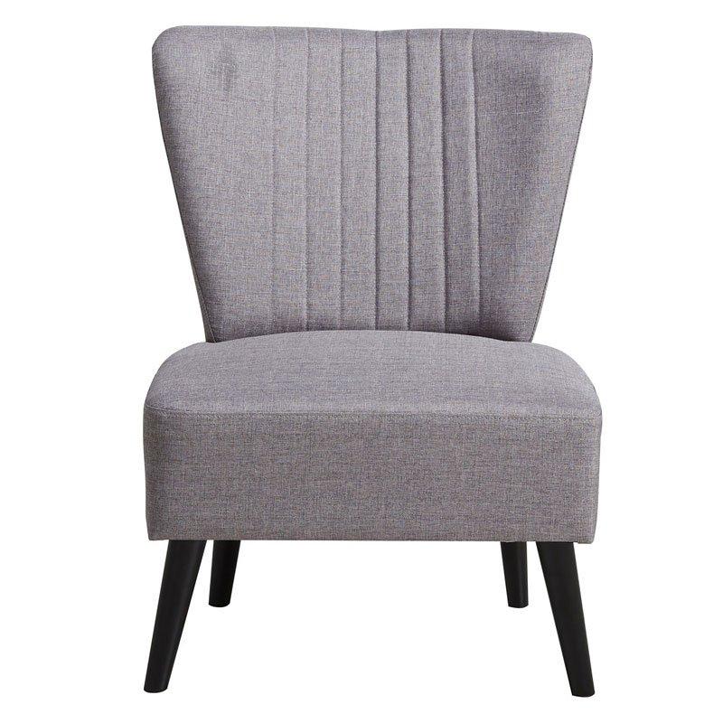 Purple Channeled Armless Accent Chair Pulaski Furniture