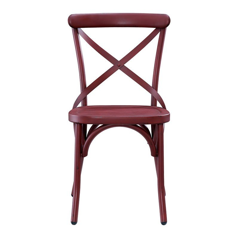 Red Metal Dining Chair
