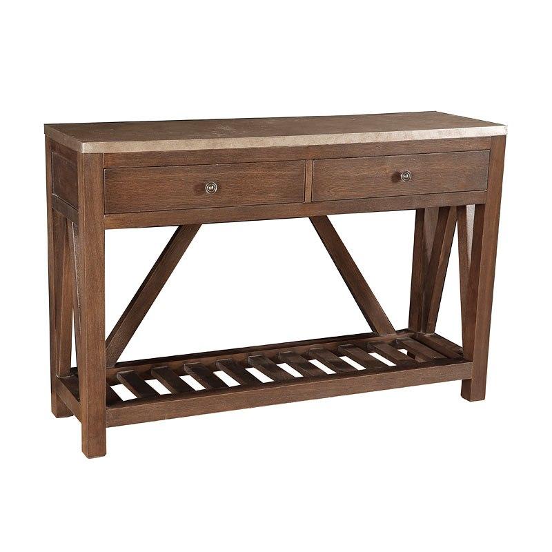 40 Farmhouse Console Table: Farmhouse Style Brown Oak Console Table Pulaski Furniture