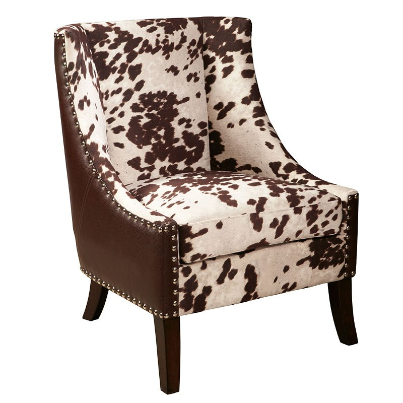 Hair On Hide Accent Chair Brown
