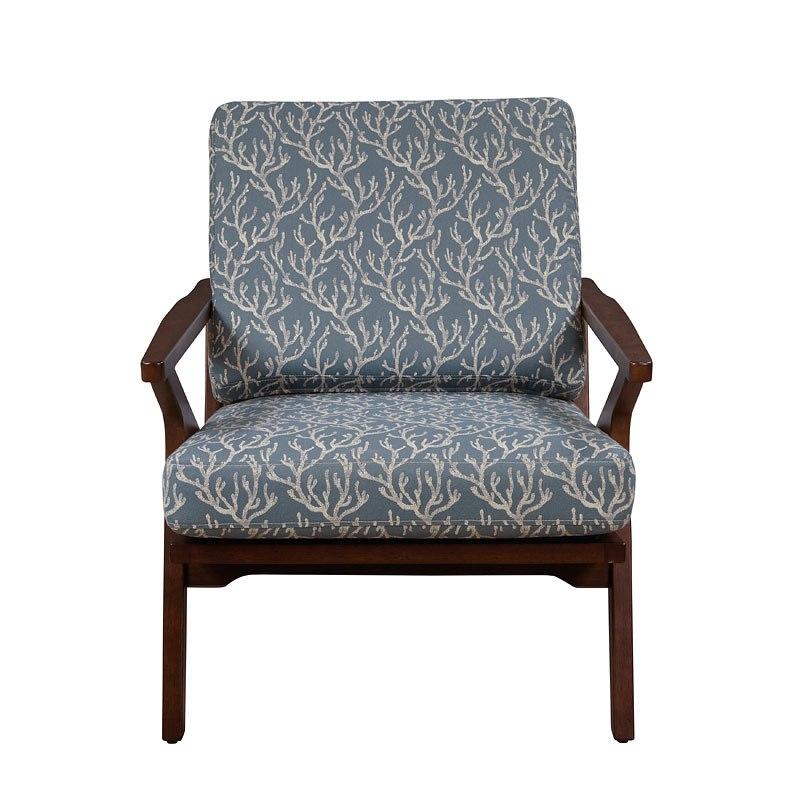 Wood Frame Accent Arm Chair (Rain)