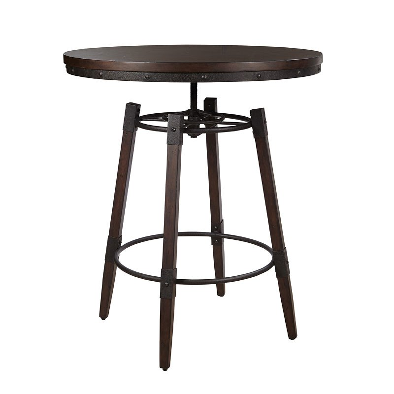 Industrial Adjustable Height Bar Table
