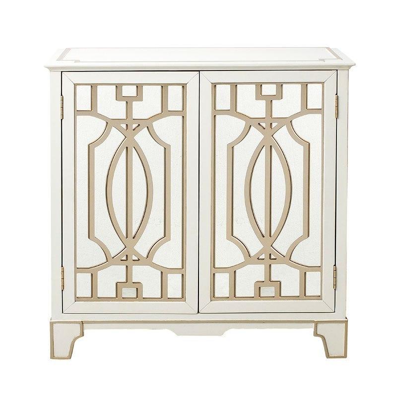 Mirrored Overlay Door Chest Pulaski Furniture Furniture Cart