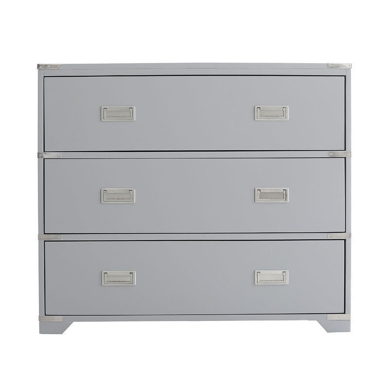 Clean Grey Painted Drawer Accent Chest