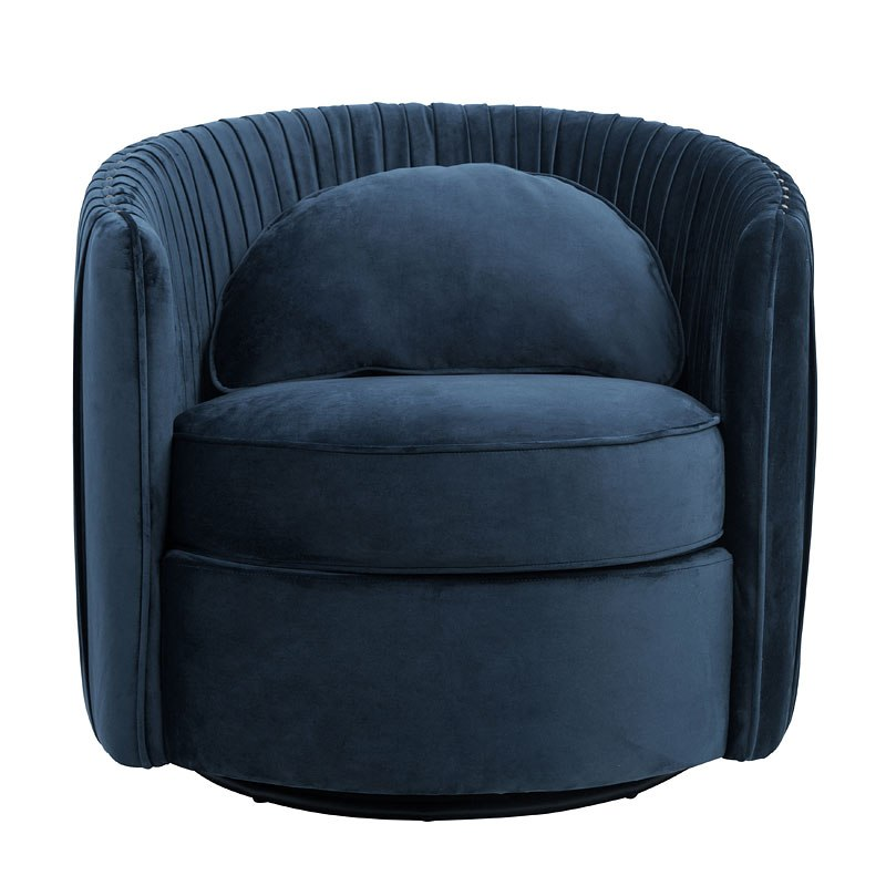 Small Accent Couch: Small Space Deep Navy Blue Accent Chair Accentrics Home