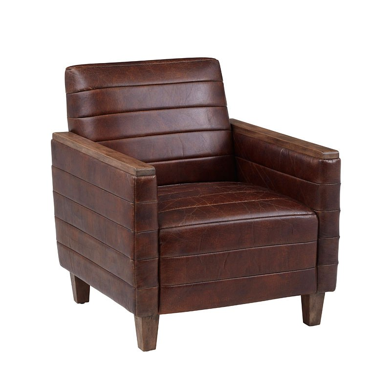 Small Space Wood Capped Arm Lounge Chair Accentrics Home ...