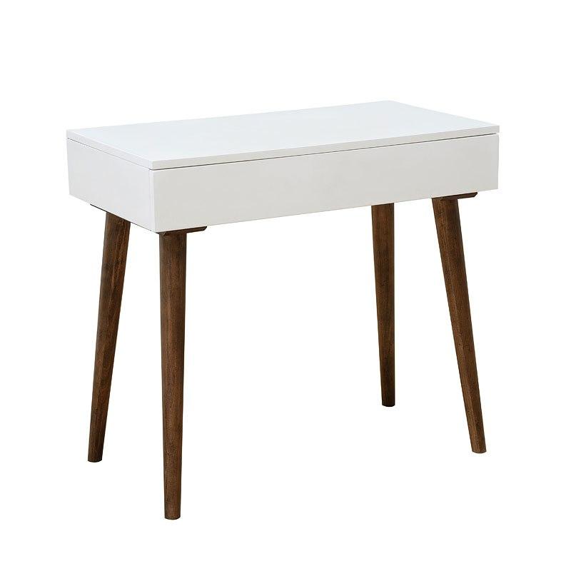 Small Space White Mid Century Modern Mini Desk Accentrics Home