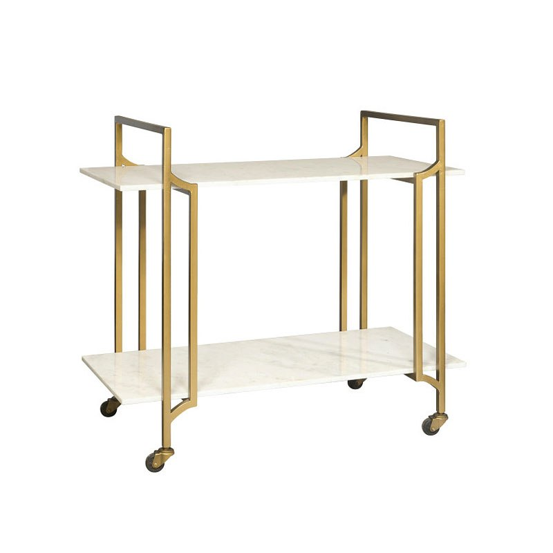 Metal Marble Bar Cart Accentrics Home Furniture Cart