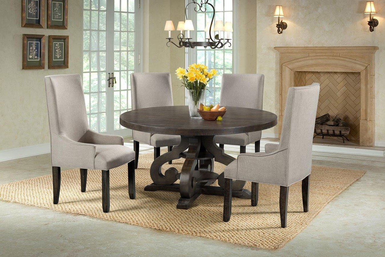 stone  dining room set  upholstered chairs elements furniture furniture cart