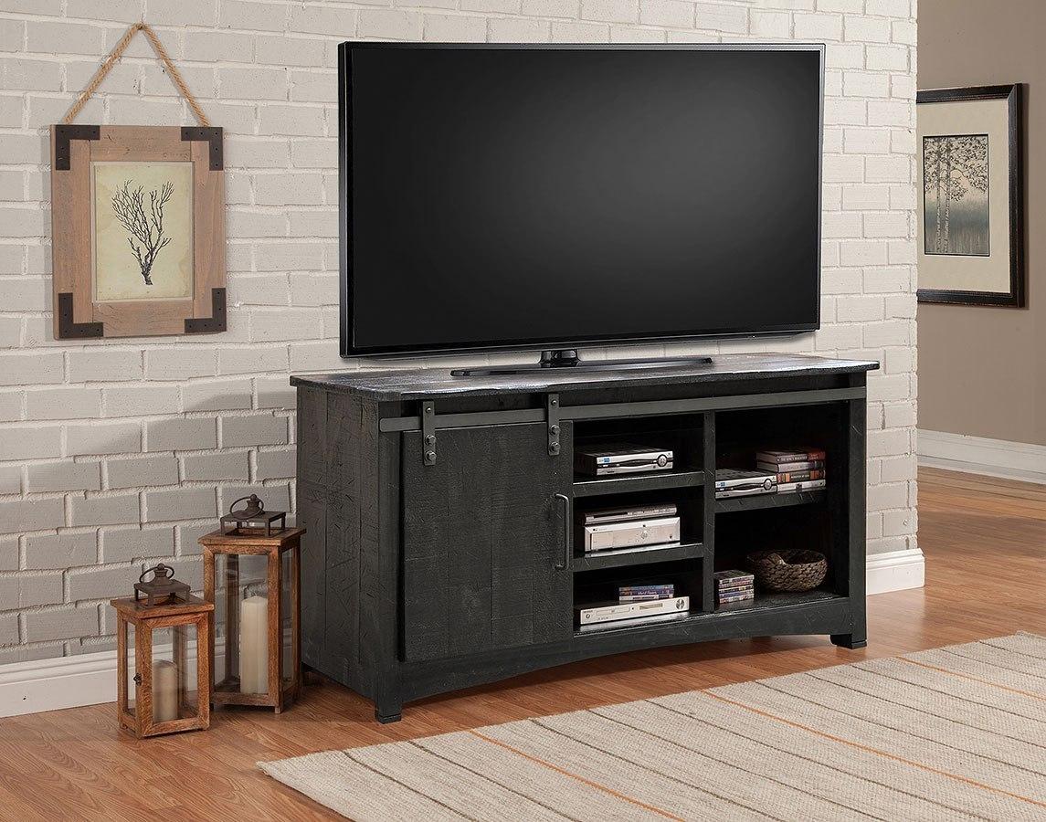 durango 63 inch tv console w sliding door parker house furniture cart. Black Bedroom Furniture Sets. Home Design Ideas