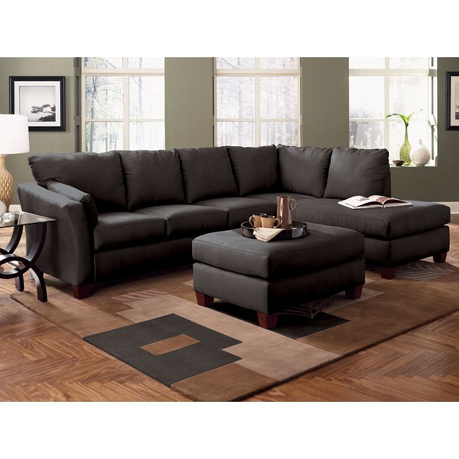 Drew Right Facing Chaise Sectional (Onyx)