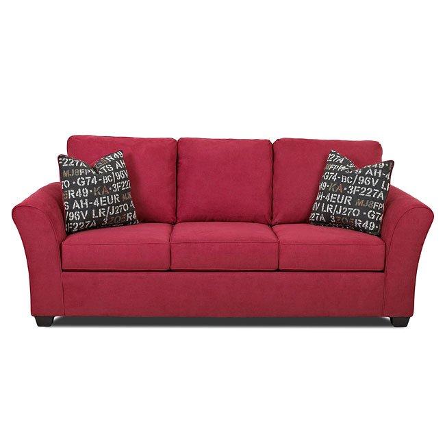 Salina Living Room Set (Willow Blaze Red) Klaussner