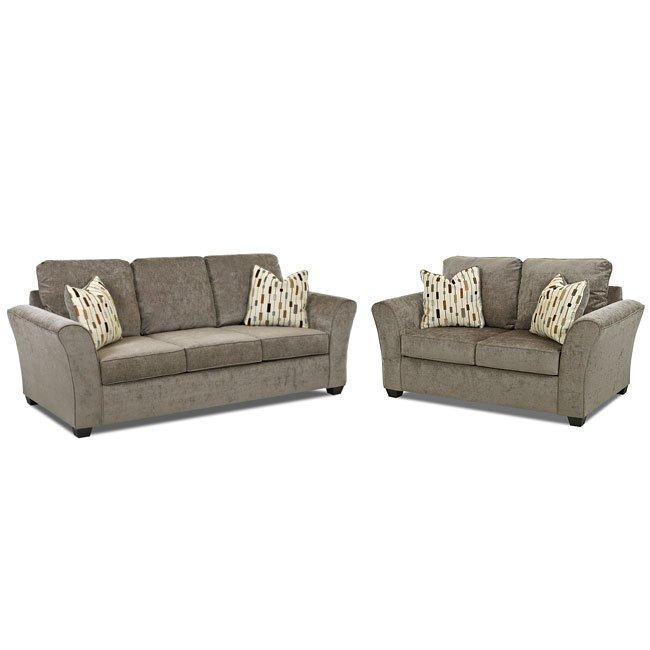 Salina Living Room Set (Fidelity Sage) Klaussner