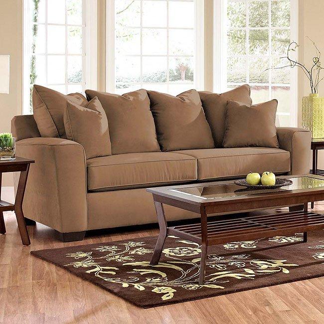 Heather Living Room Set Chocolate Klaussner Furniture Cart