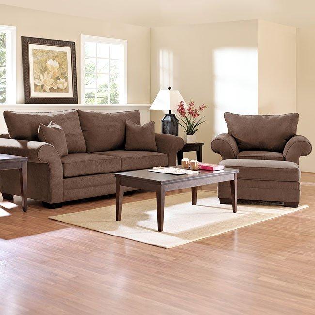 Holly Living Room Set Java Klaussner Furniture Cart