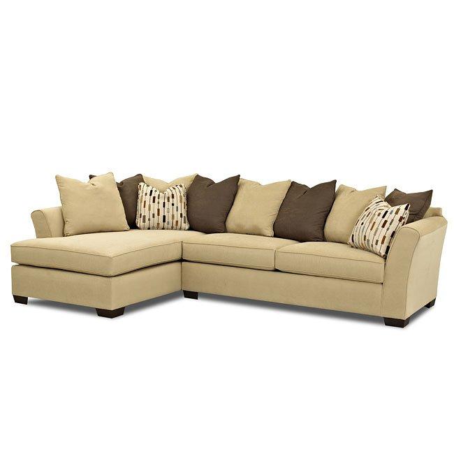 Garden Furniture Corner Sofa Ikea: Energize Left Chaise Sectional (Halo Grain) Klaussner
