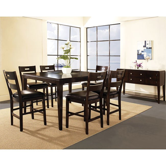 Ice Counter Height Dining Room Set W/ Ladderback Chairs Steve Silver  Furniture | Furniture Cart