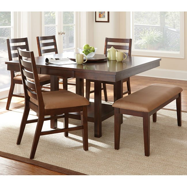 Cherry Dining Room Set: Eden Dining Room Set (Dark Cherry) Steve Silver Furniture