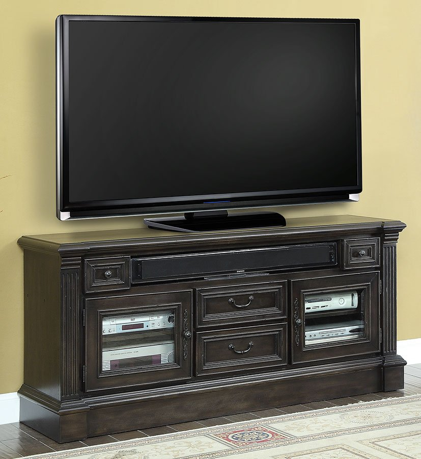 fairbanks 65 inch tv console parker house furniture cart. Black Bedroom Furniture Sets. Home Design Ideas