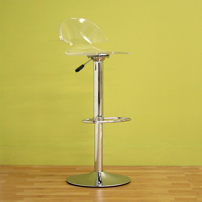 Montano Bar Stool (Clear) (Set of 2)