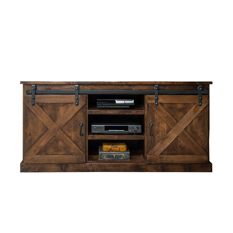 40 Farmhouse Console Table: Farmhouse 66 Inch TV Console (Aged Whiskey) Legends