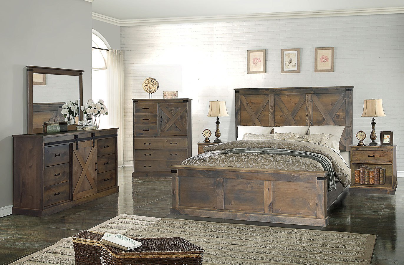 Farmhouse Panel Bedroom Set Barnwood Legends Furniture