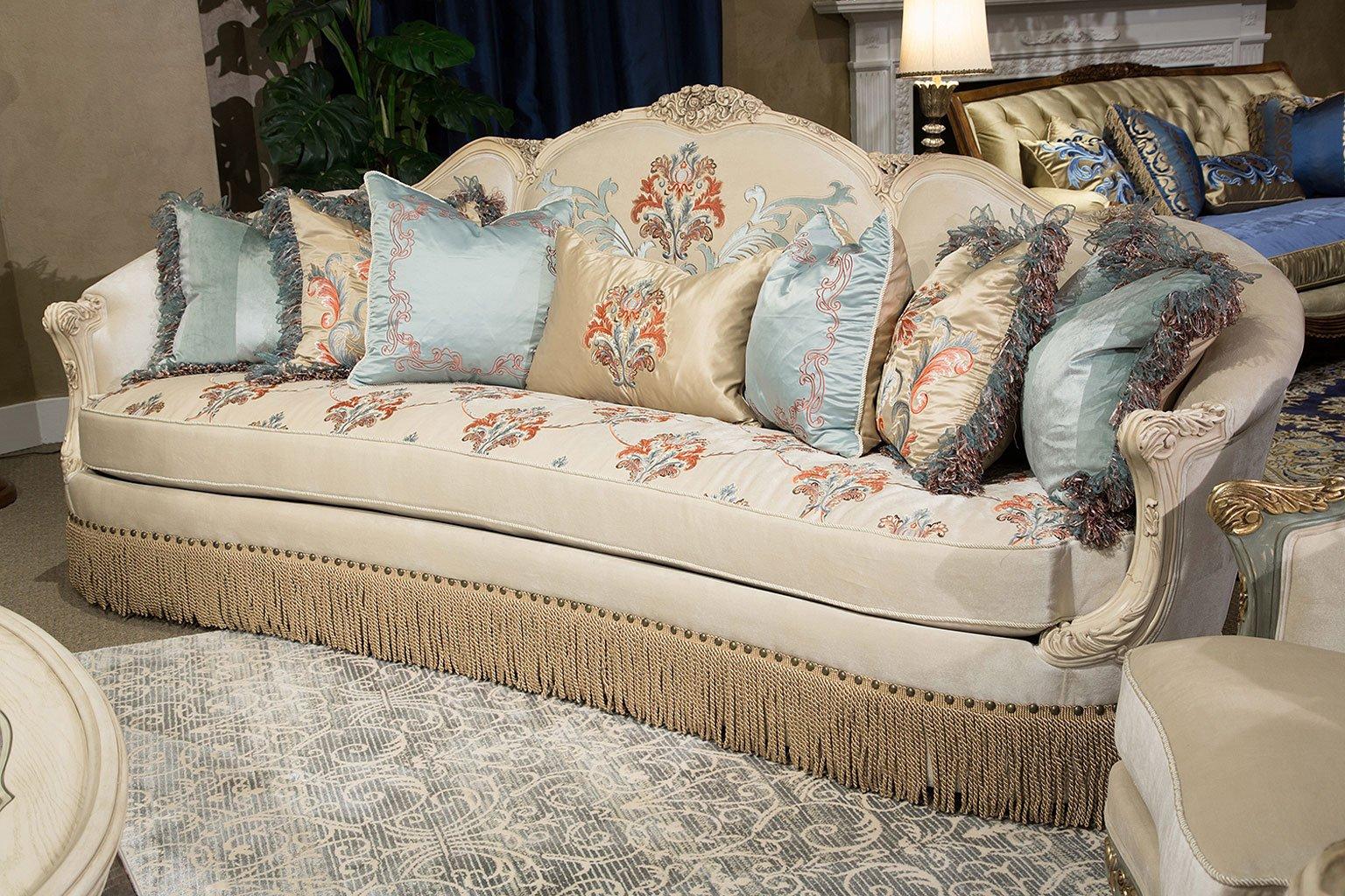 Freestanding Belle Fleur Mansion Sofa Aico Furniture | Furniture Cart
