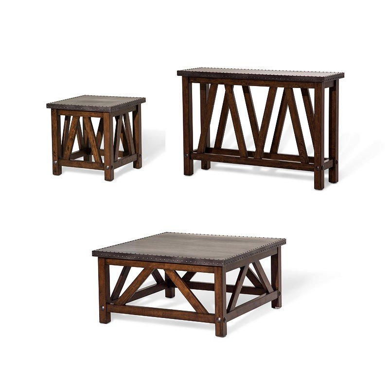 e7c9f9c2604c Freestanding Brighton Square Occasional Table Set Aico Furniture ...
