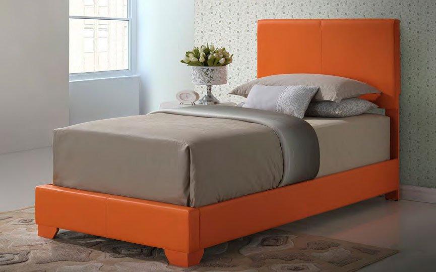 G1809 Youth Upholstered Bed Orange Glory Furniture