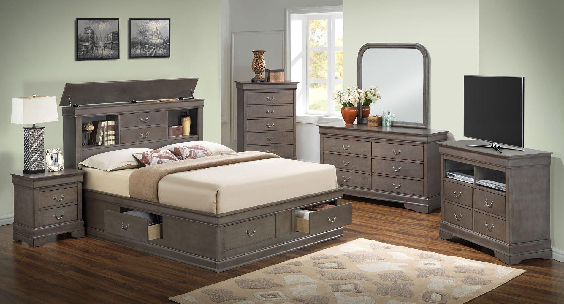 G3105 Bookcase Storage Bedroom Set Glory Furniture Furniture Cart