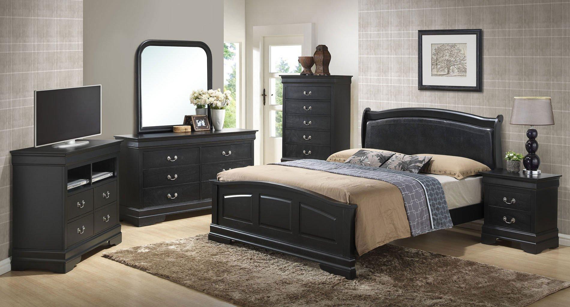 G3150 upholstered headboard bedroom set glory furniture furniture cart for Bedroom sets with upholstered headboards