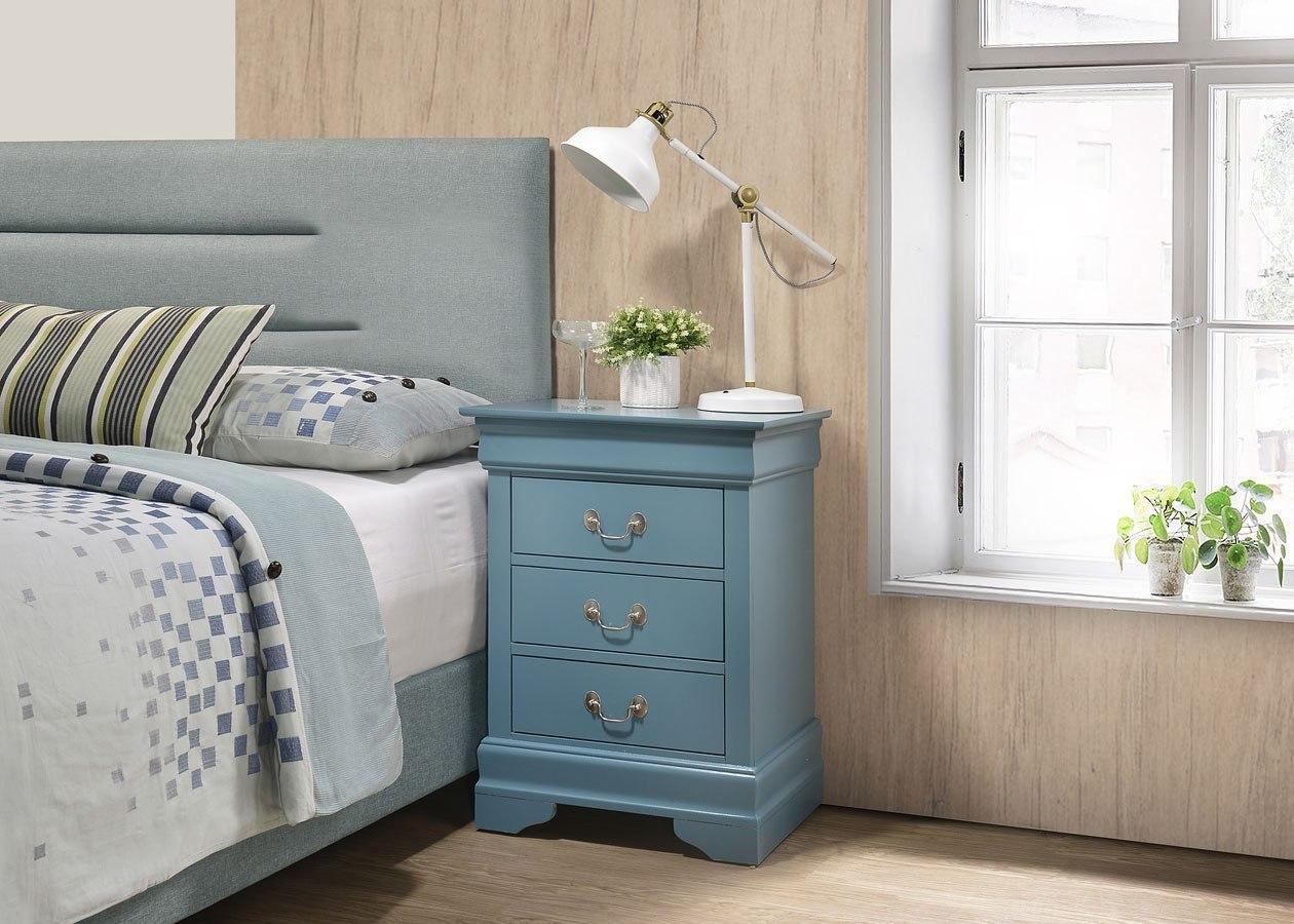 G3180 Bedroom Set W/ White Bookcase Storage Bed Glory