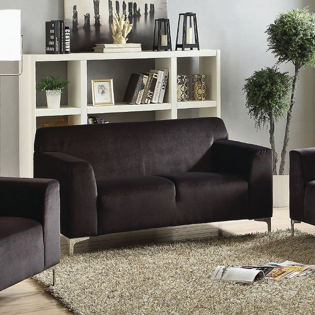 G331 Living Room Set (Black) Glory Furniture